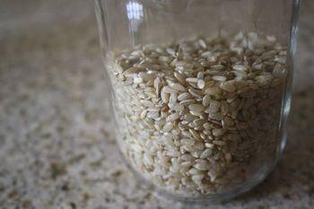 Rice in jar