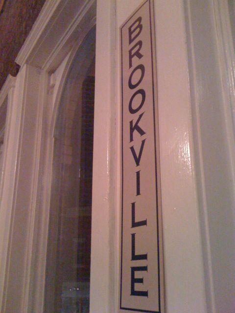 Brookville sign